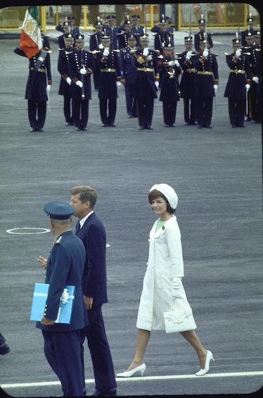 Jackie O wearing white