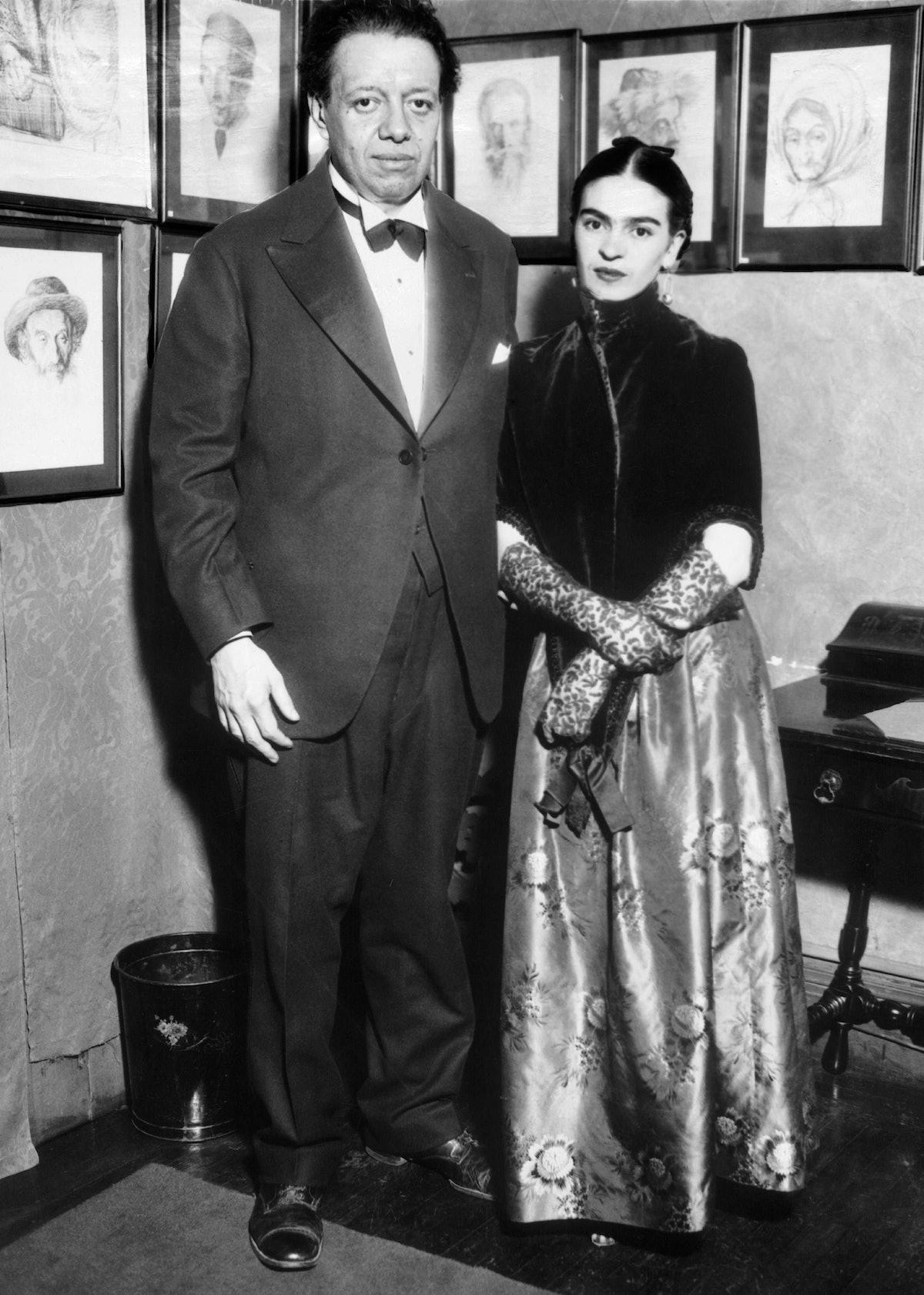LES EPOUX ET PEINTRES DIEGO RIVERA ET FRIDA KAHLO A NEW YORK 1933