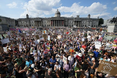 Protest Groups Unite To Demonstrate Against Donald Trump's UK Visit