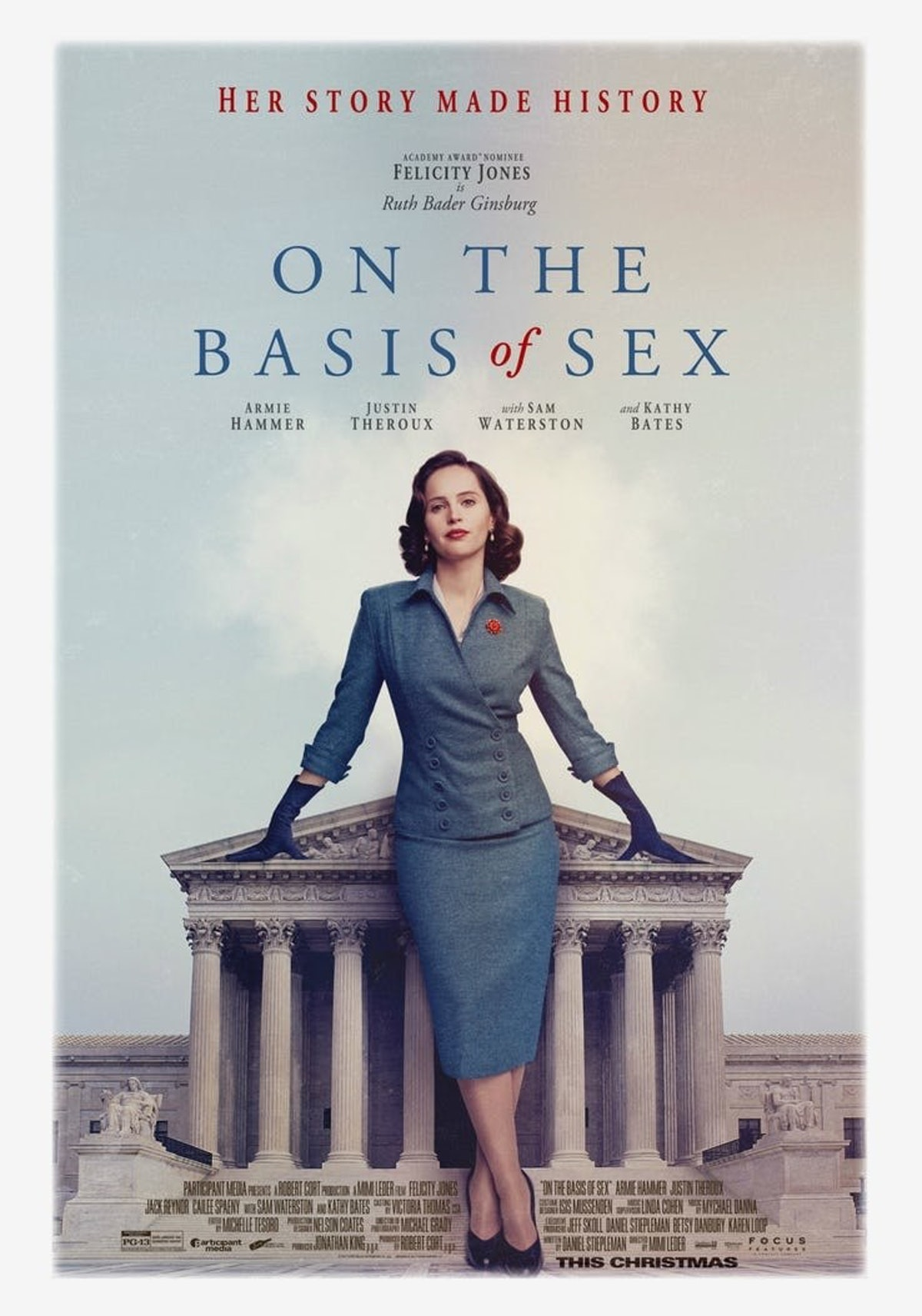 'On the Basis of Sex' Trailer: Felicity Jones Takes on Ruth Bader Ginsburg 1