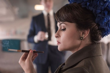 Helena Bonham Carter and Her Cigarette Have Arrived to Play The Crown's New Princess Margaret 1