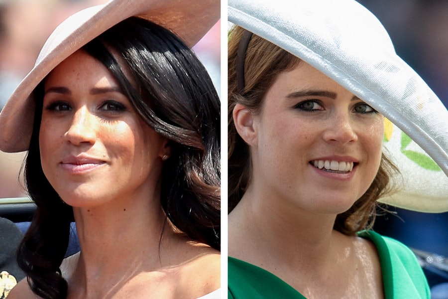 Princess Eugenie's Aquazzura Heels Are the Same Ones Meghan Markle Wore for Her Engagement Announcement lead