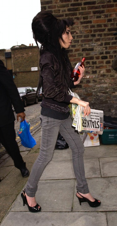 Amy Winehousesighting streets of London
