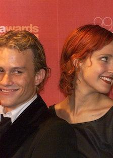 Heath Ledger and Rose Byrne at the AFI Awards in Sydney, 13 November 1999. SHD