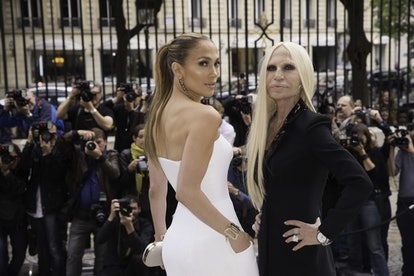 Versace: Front Row - Paris Fashion Week: Haute-Couture Fall/Winter 2014-2015