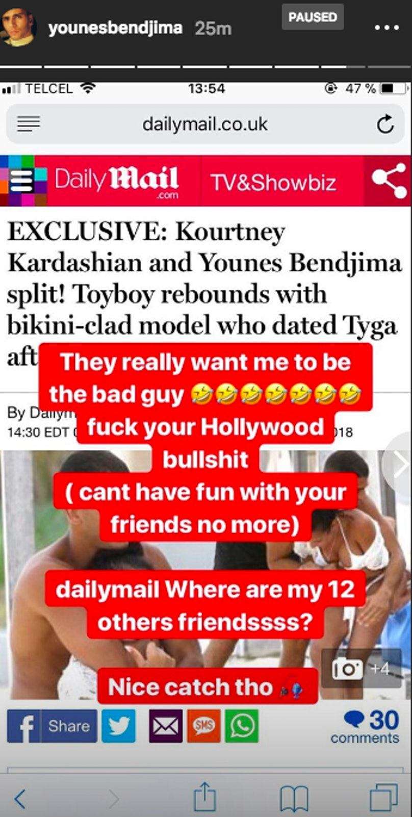 Kourtney Kardashian and Younes Bendjima breakup.png