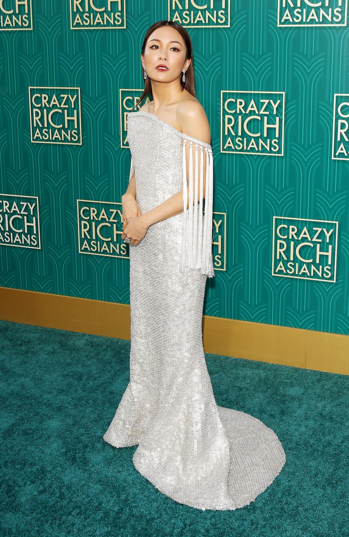 Constance Wu's 'Crazy Rich Asians Premiere' Dress Had 90 Carats of Diamonds 1