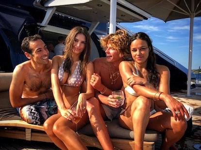 Emily Ratajkowski, Michelle Rodriguez, and Jordan Barrett  italy vacation.jpg