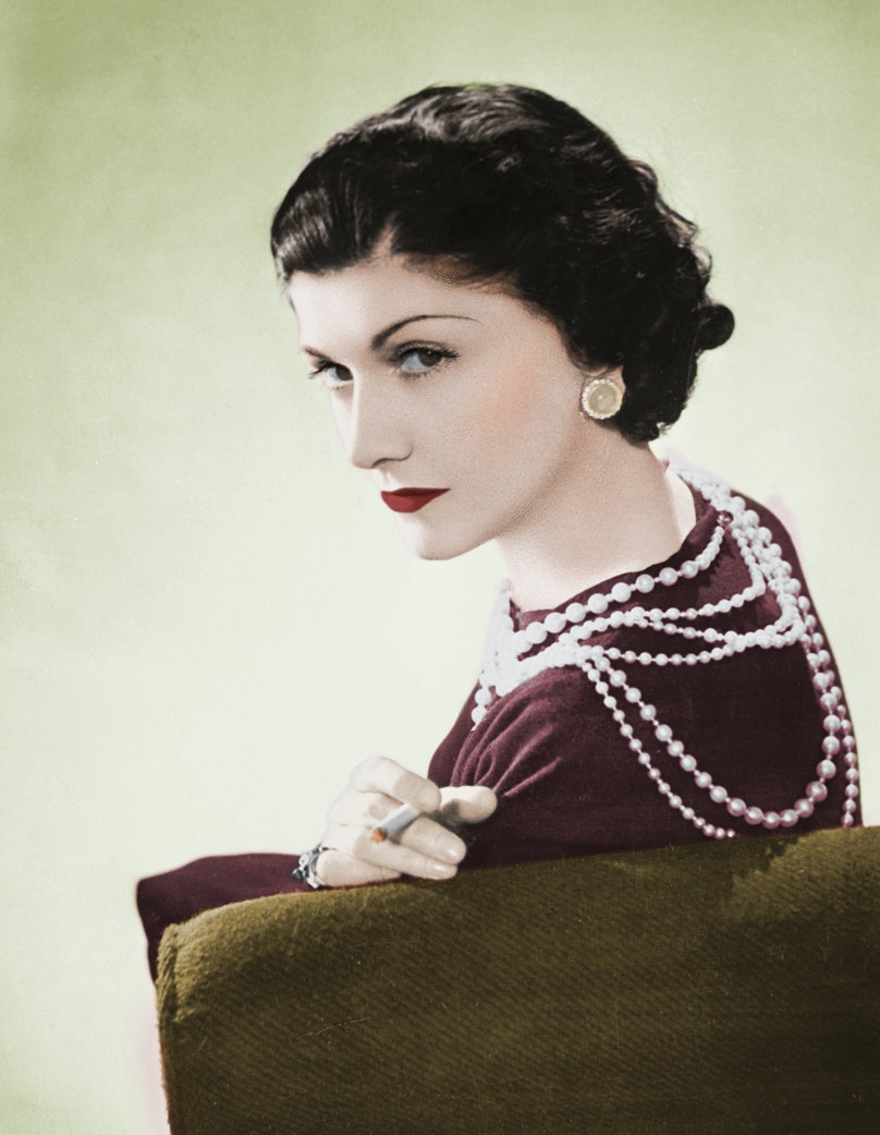 Coco Chanel, French couturier. Paris, 1936. Colour