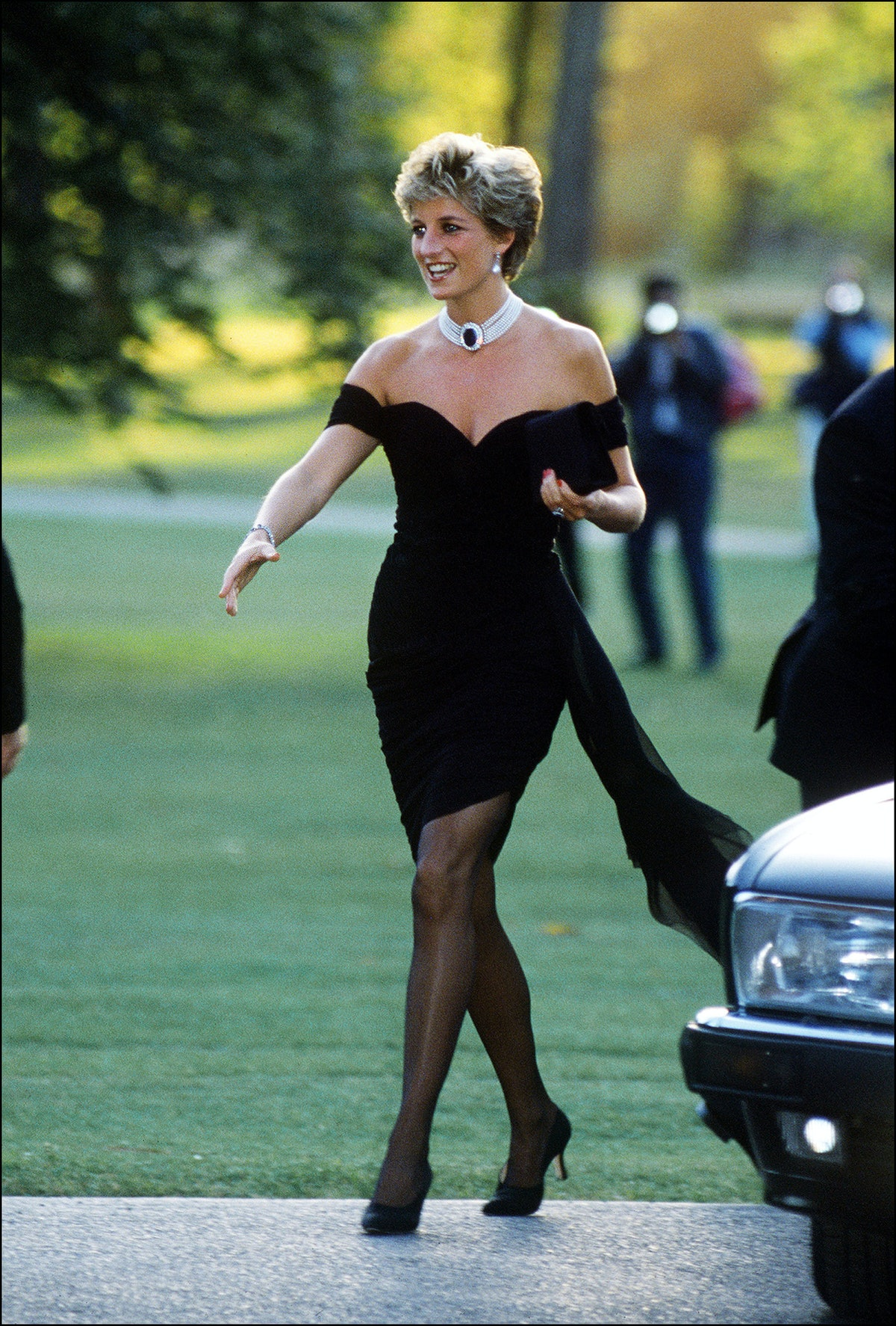 "Princess Diana wearing her ""revenge dress"""