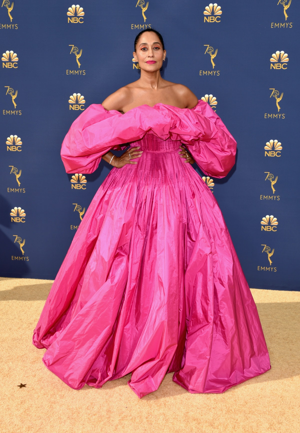 Tracee Ellis Ross Pink Valentino Gown Emmys