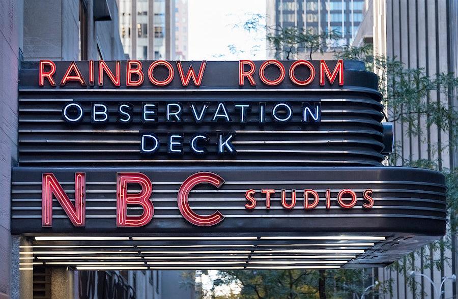 NBC studios in New York City: Historic Rockefeller Center in