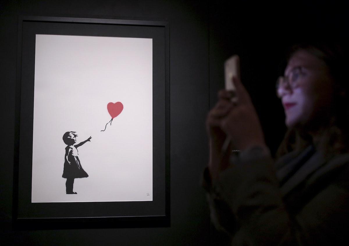 Exhibition of works by street artist Banksy in St Petersburg