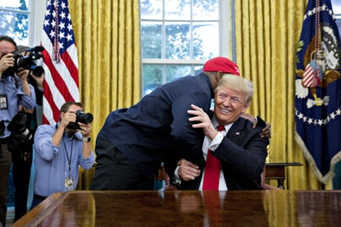 Kanye West Meets President Trump In The Oval Office Of The White House