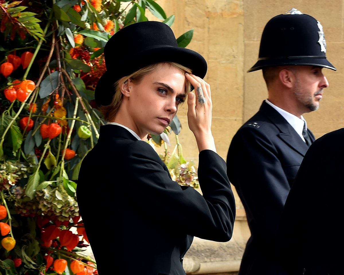 Cara Delevingne Bold Royal Wedding Look LEAD