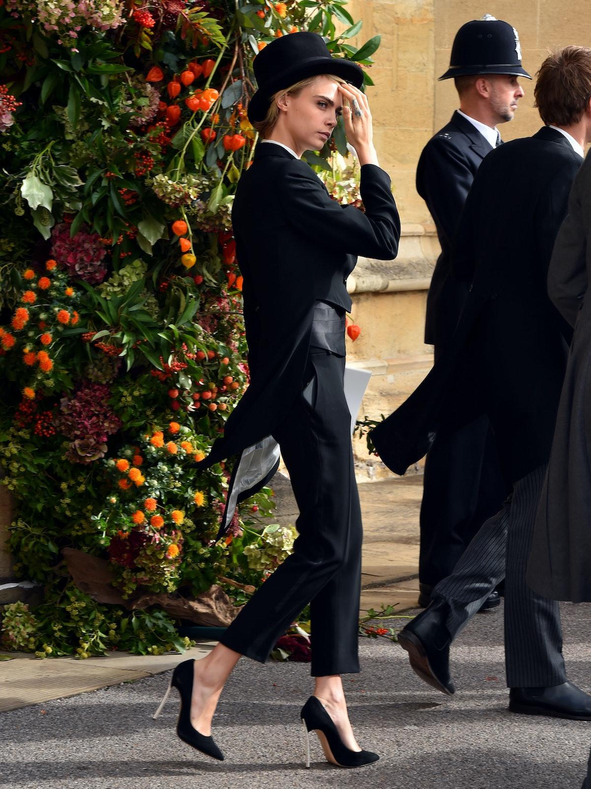Cara Delevingne Bold Royal Wedding Look 1