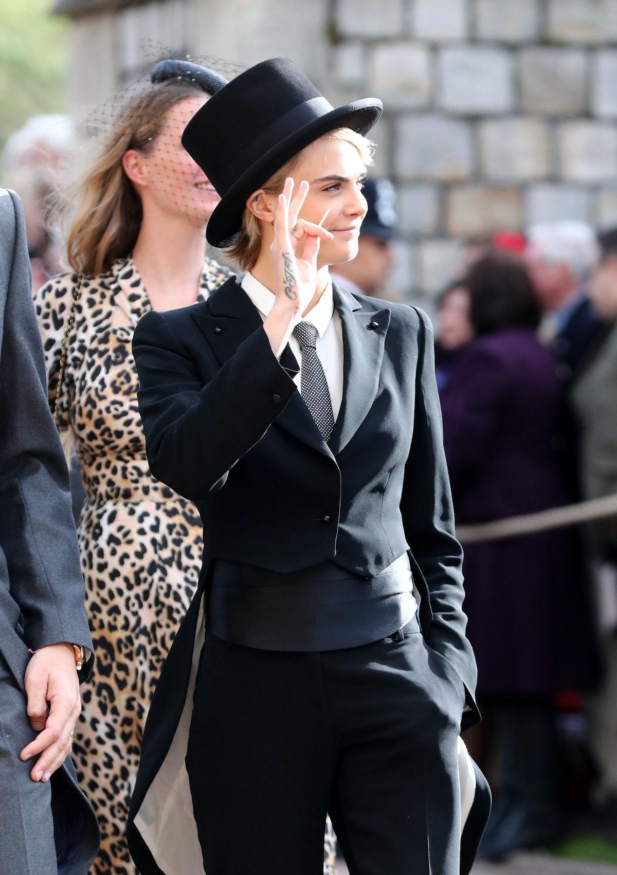 Cara Delevingne Bold Royal Wedding Look 3