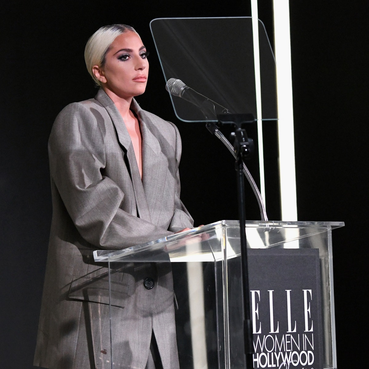 Lady Gaga Opens Up About Sexual Assault and Mental Health in Vulnerable ELLE Women in Hollywood Acce...