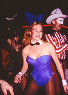 Costumed Woman At Studio 54 Halloween Party