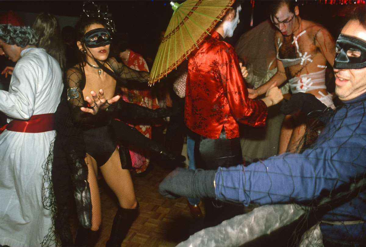 Revelers Dance At The 3rd Halloween Party At Studio 54