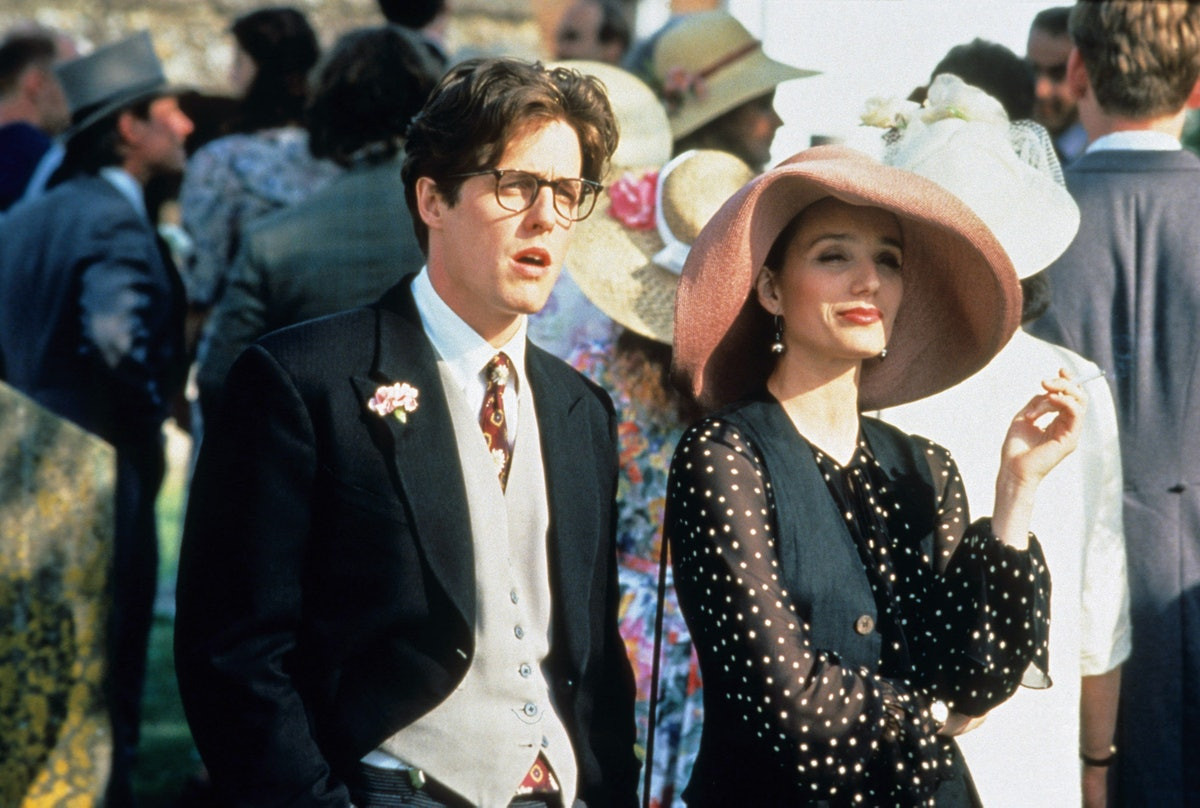 FOUR WEDDINGS AND A FUNERAL, from left: Hugh Grant, Kristin Scott Thomas, 1994. © Gramercy Pictures/