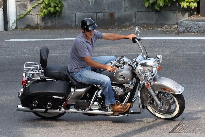George Clooney motorcycle embed