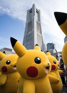 Pikachus Parade At Yokohama's Summer Festival