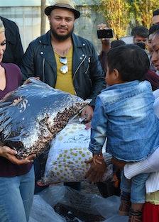 Paris Hilton Visits Reconstruction in Xochimilco