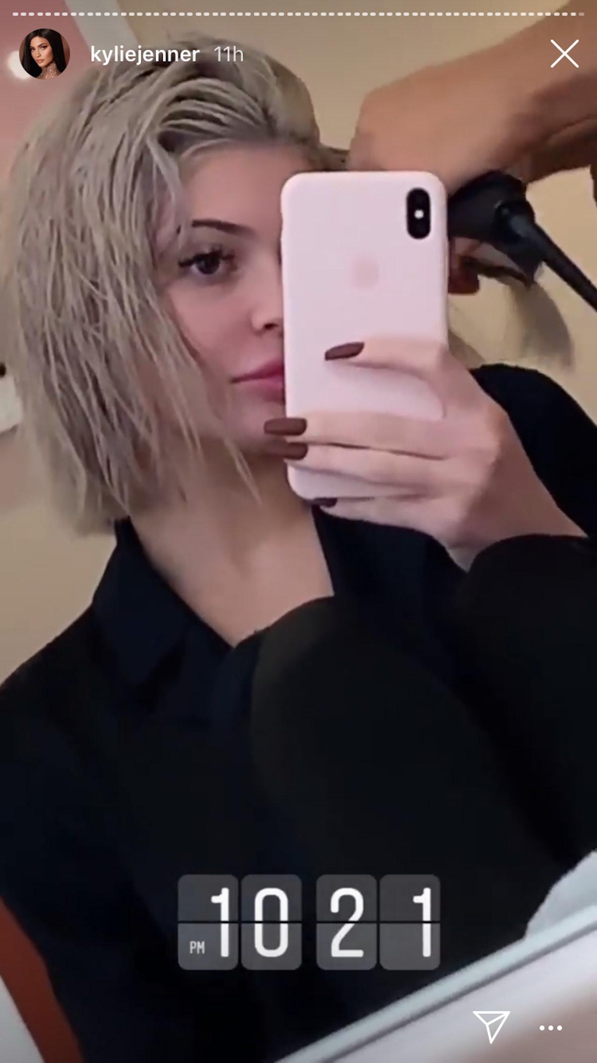 Kylie Jener silver hair