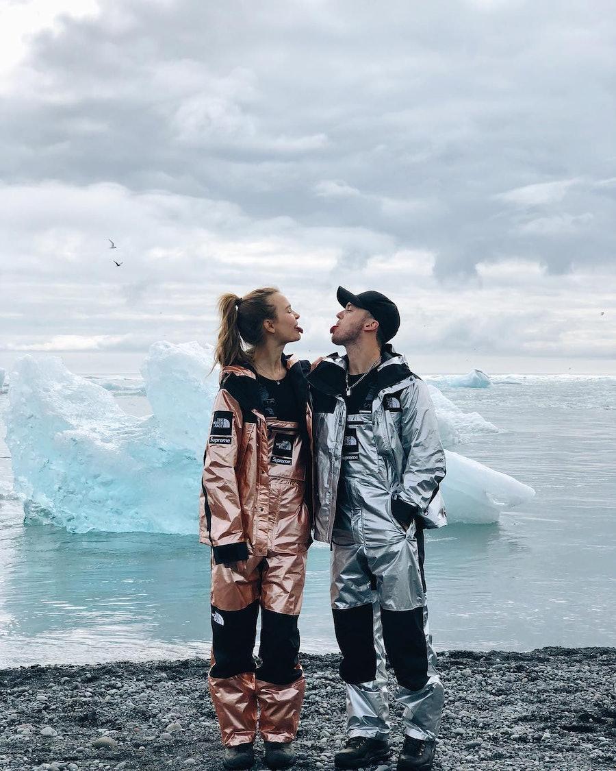 Josephine Skriver and Alex DeLeon