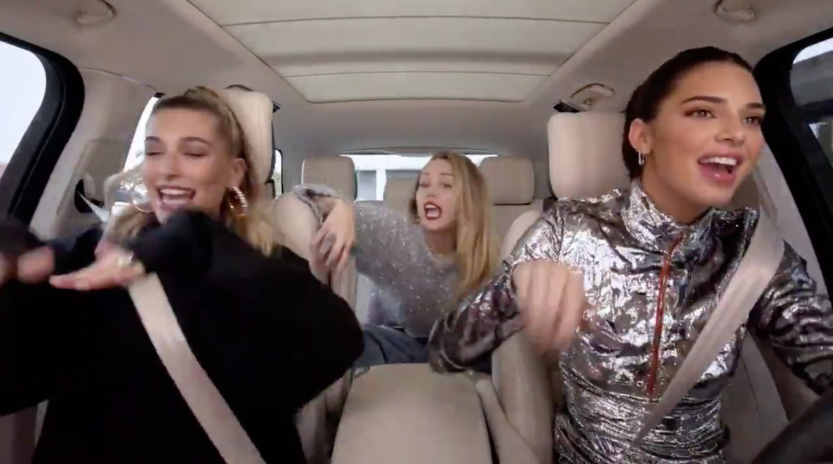 Hailey Baldwin, Kendall Jenner, and Miley Cyrus