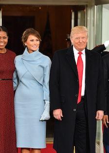 Michelle Obama at Donald Trump's 2016 inauguration