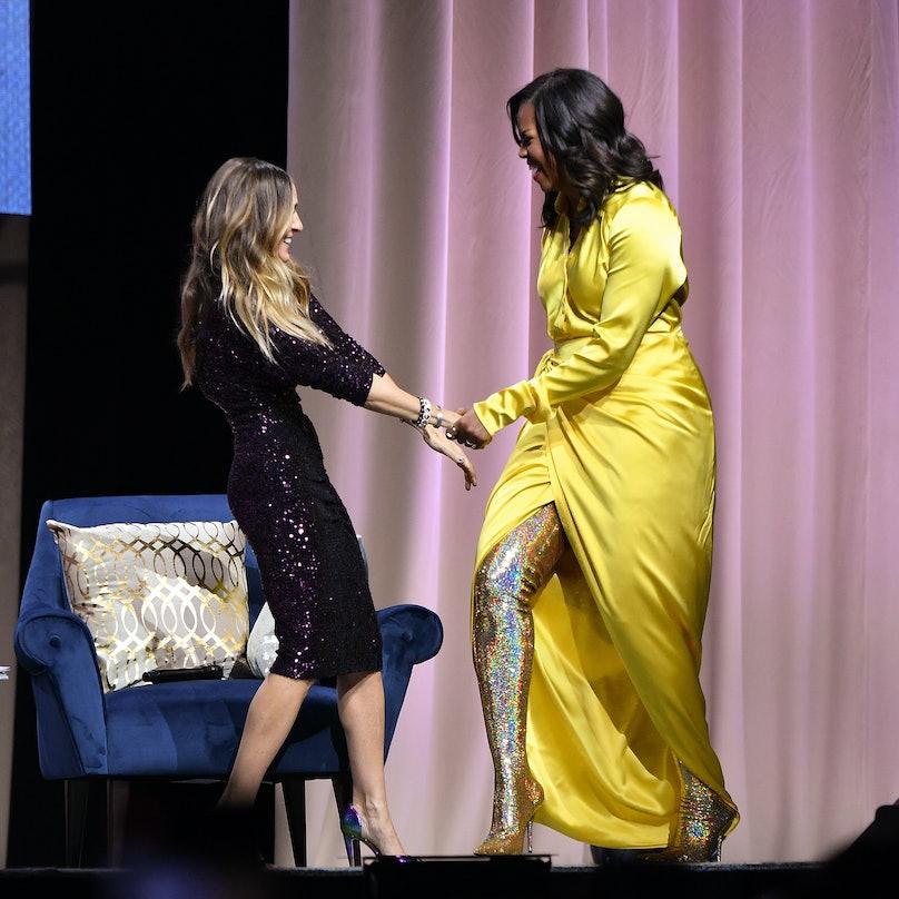 Michelle Obama in Balenciaga boots1