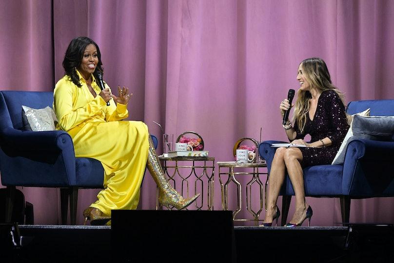 Michelle Obama in Balenciaga boots2