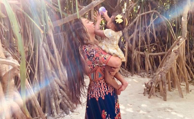 Beyoncé and Rumi Carter