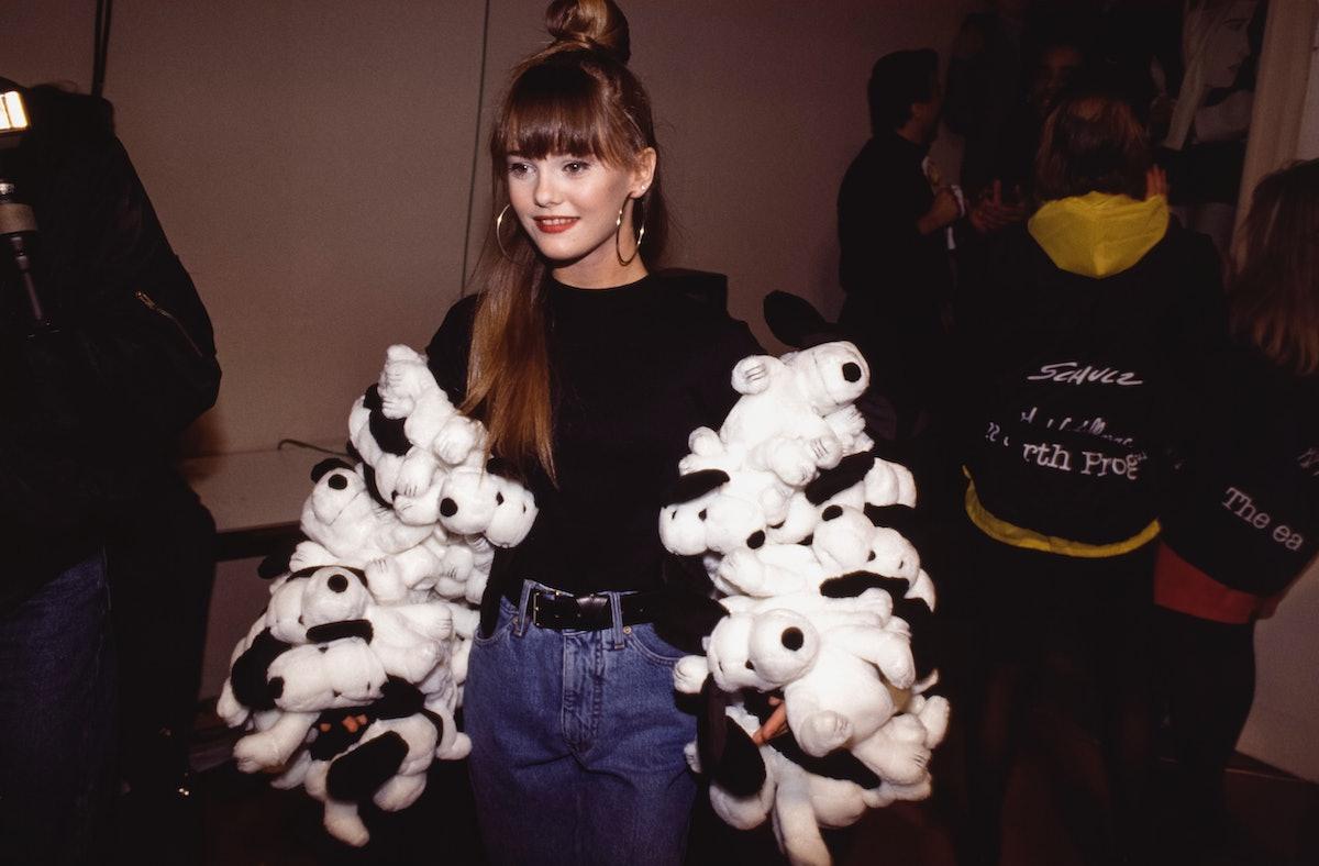 Vanessa Paradis lors d'un défilé Castelbajac en 1989
