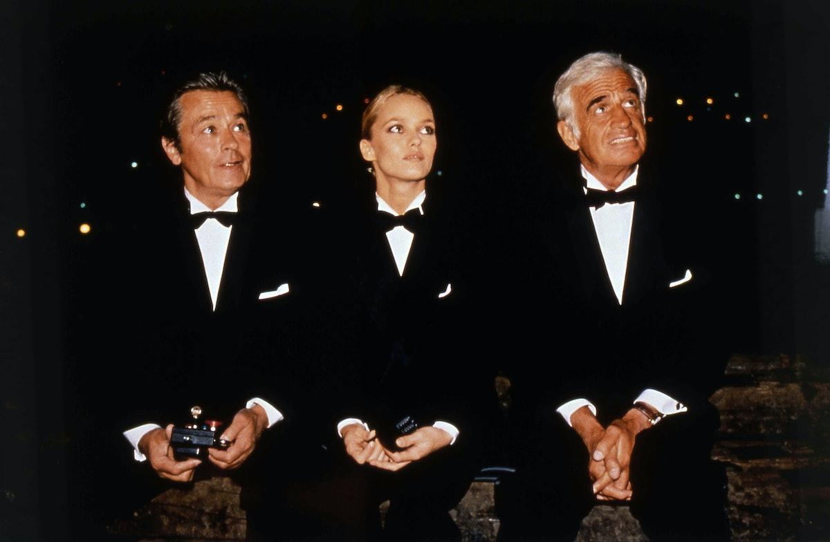 Paradis joined Alain Delon and Jean-Paul Belmondo in sporting a classic tuxedo