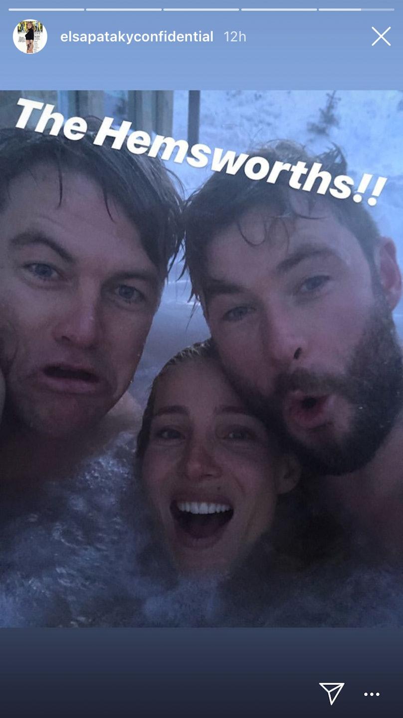Chris Hemsworth, Luke Hemsworth, Elsa Pataky
