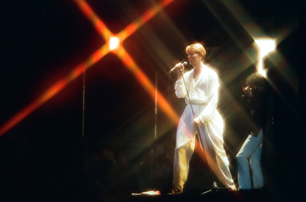 David Bowie Performs At Earls Court Arena In London