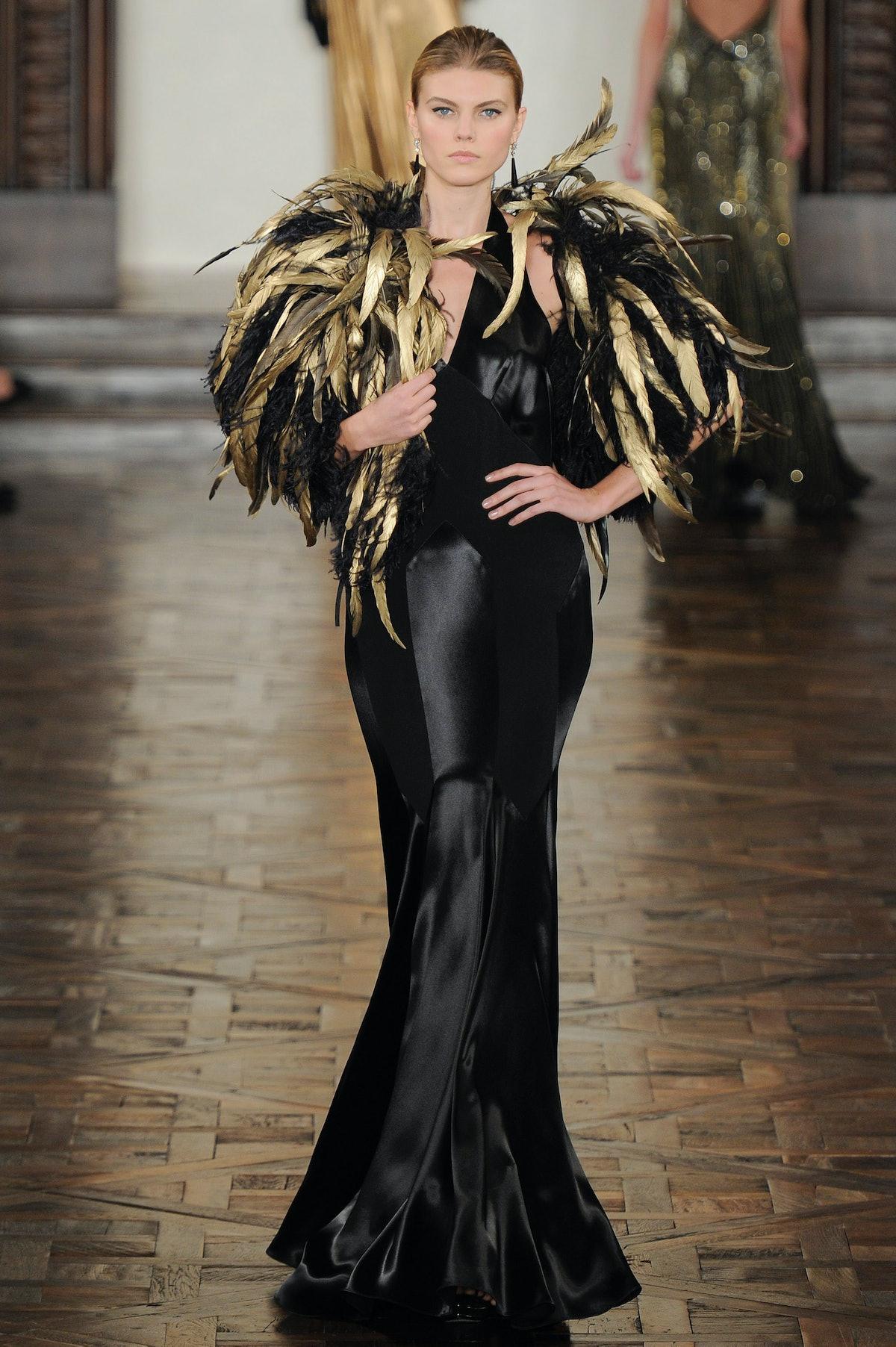 Ralph Lauren Fall 2012 RTW - feathered shawl