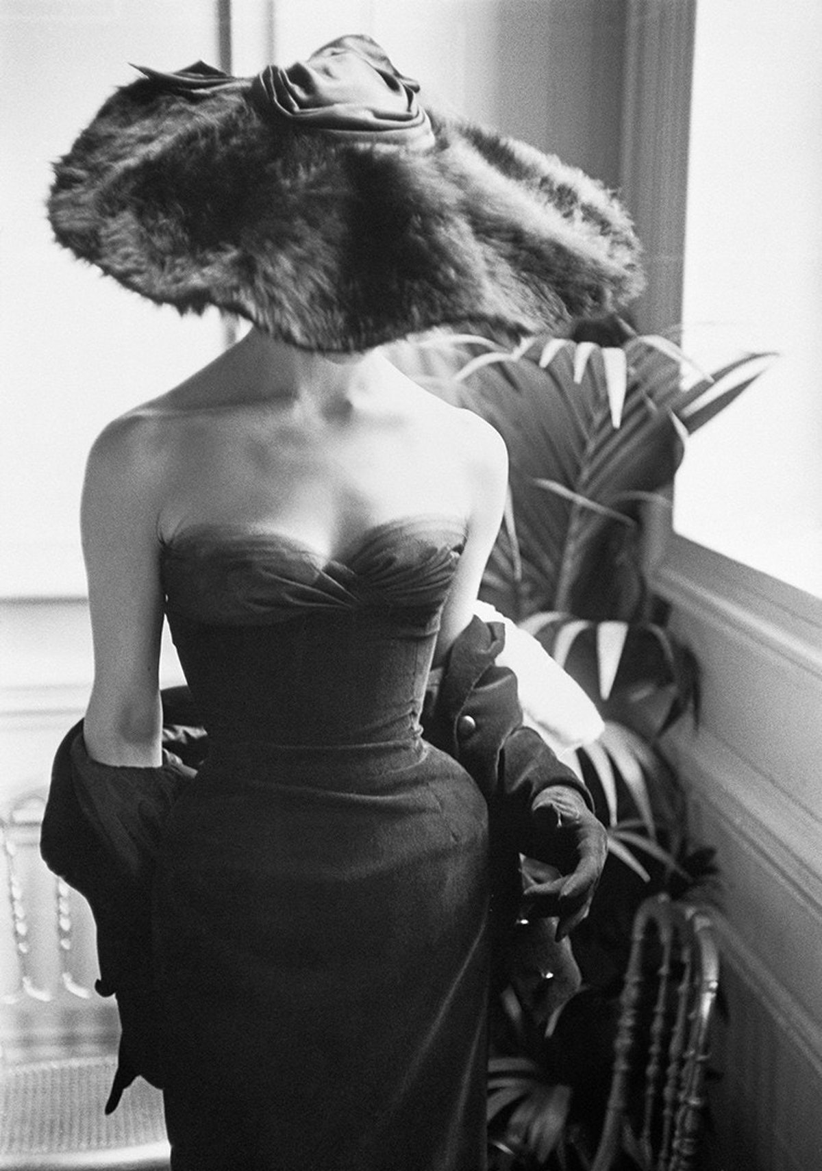 'Dior Gown with Fur Hat,' Paris, 1954, Mark Shaw.jpg