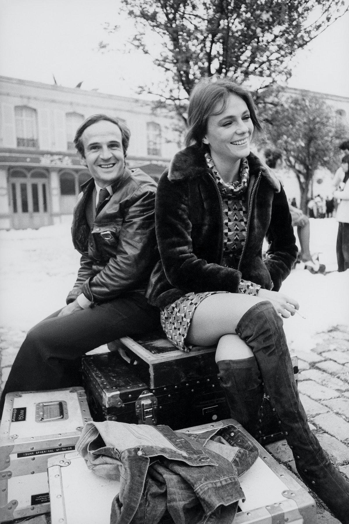 François Truffaut and Jacqueline Bisset