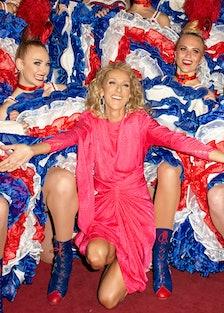 Celine Dion Visits The Moulin Rouge In Paris