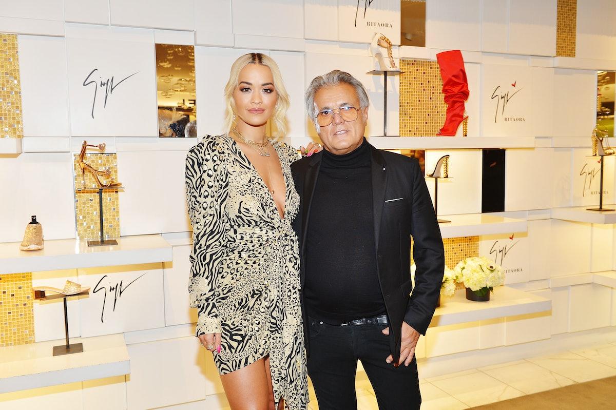 Giuseppe Zanotti And Rita Ora Launch 'Giuseppe for Rita Ora' Shoe Collection At Saks Fifth Avenue Be...