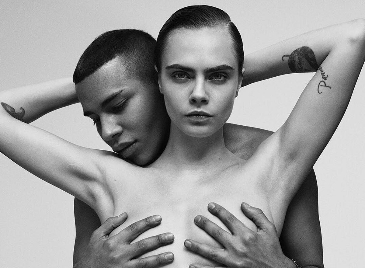 Cara Delevingne and olivier rousteing balmain