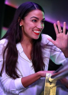 Democratic Congressional Candidate In New York Alexandria Ocasio-Cortez Attends Election Night Party