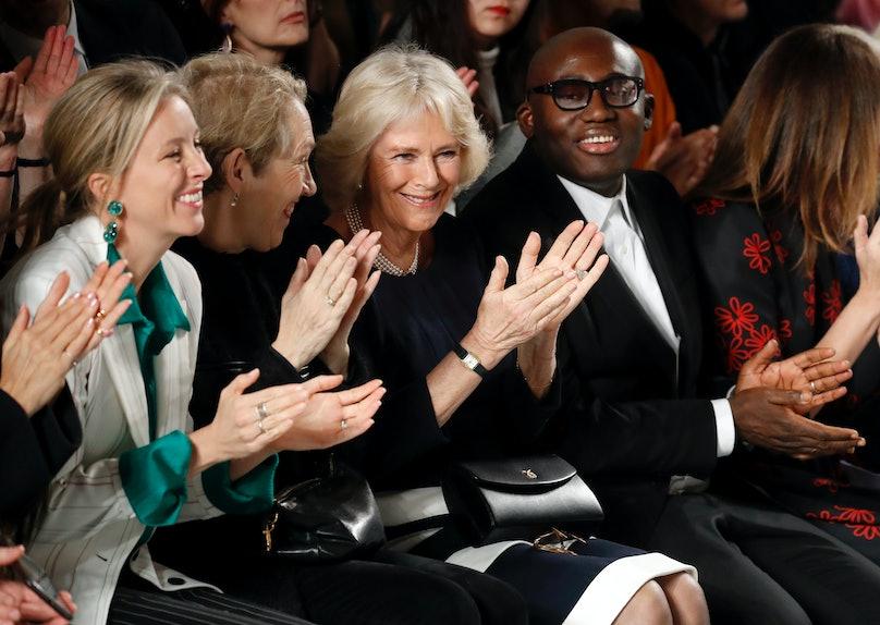 The Duchess Of Cornwall Visits London Fashion Week
