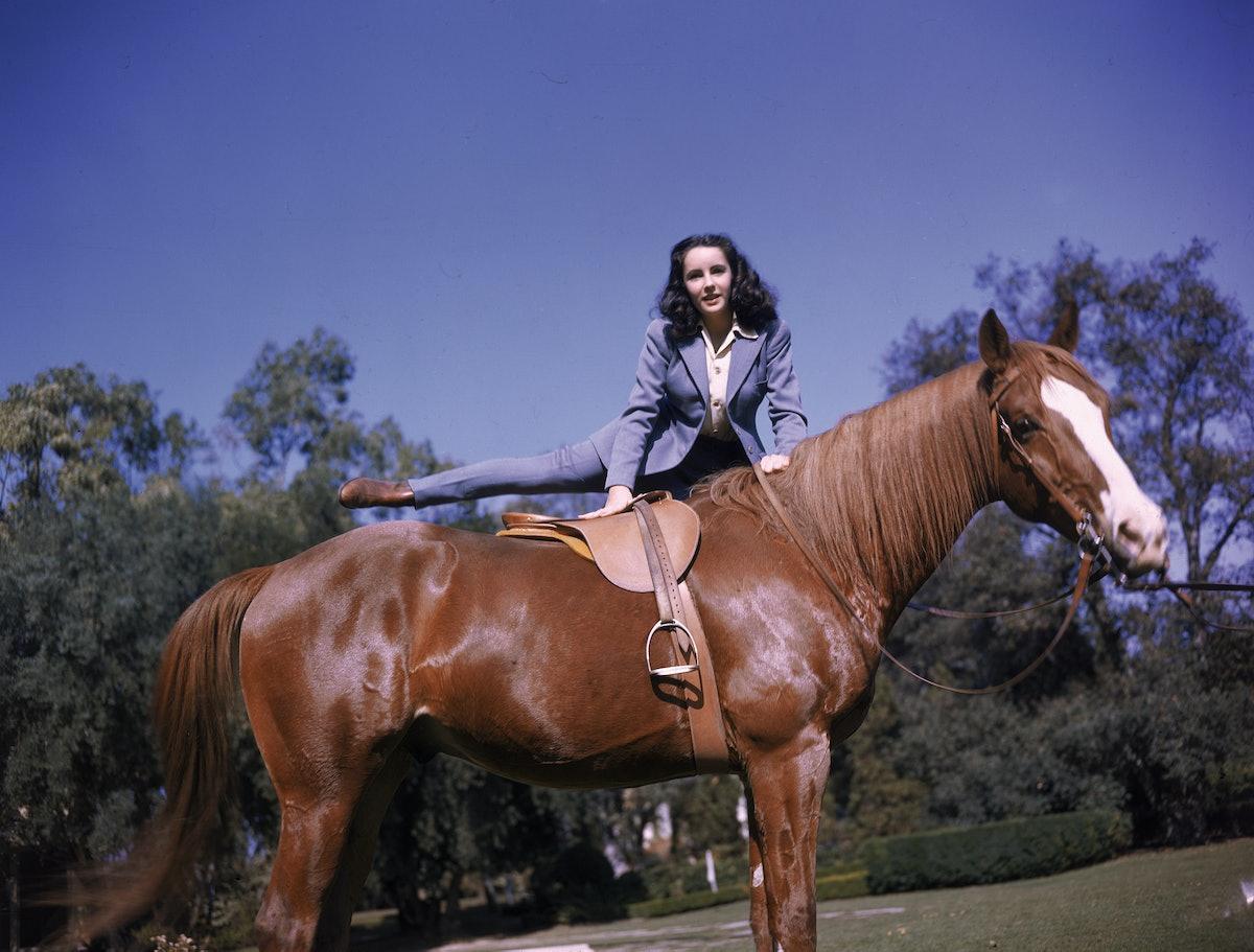 Elizabeth Taylor Mounts A Horse