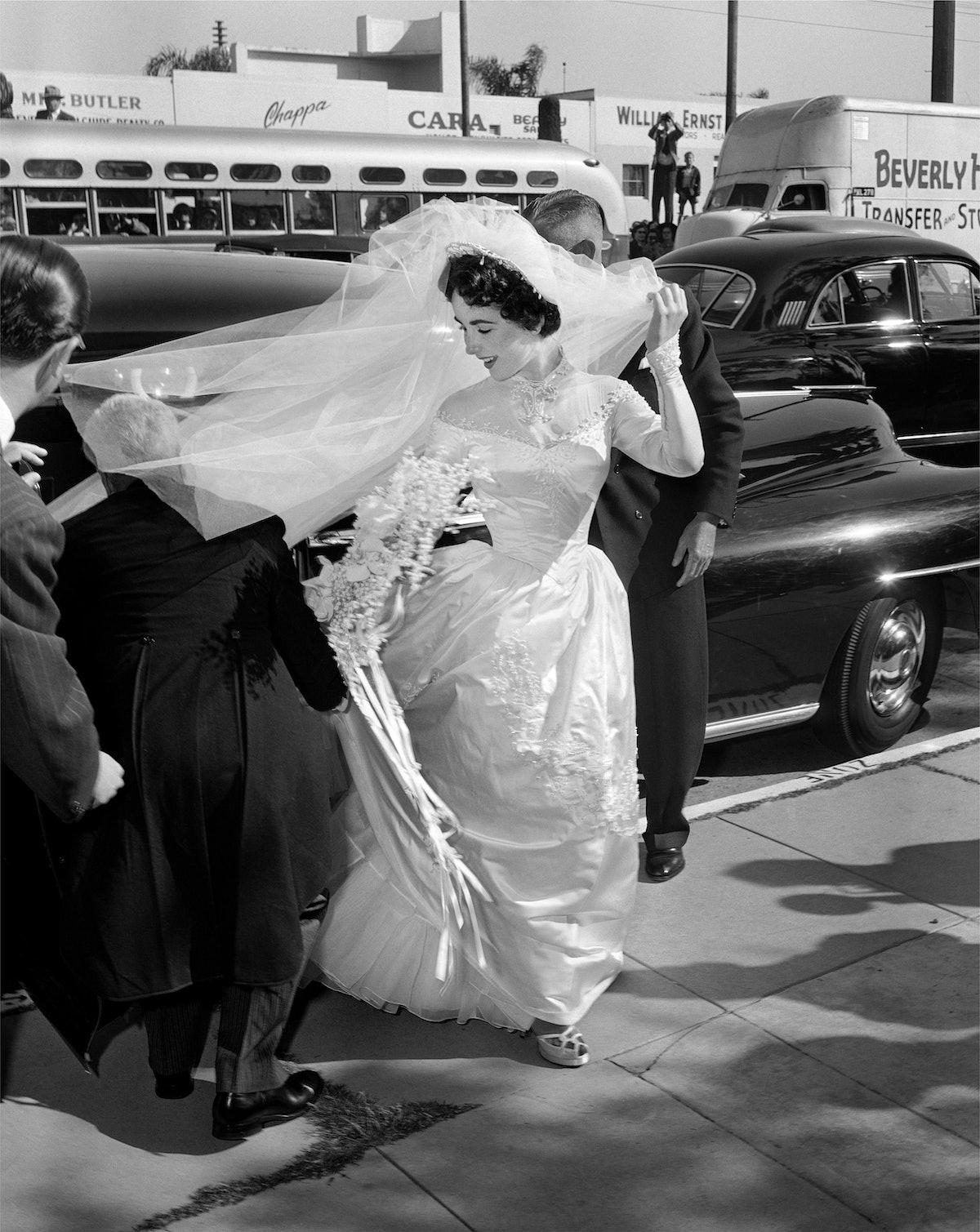 Liz Taylor Wedding Day