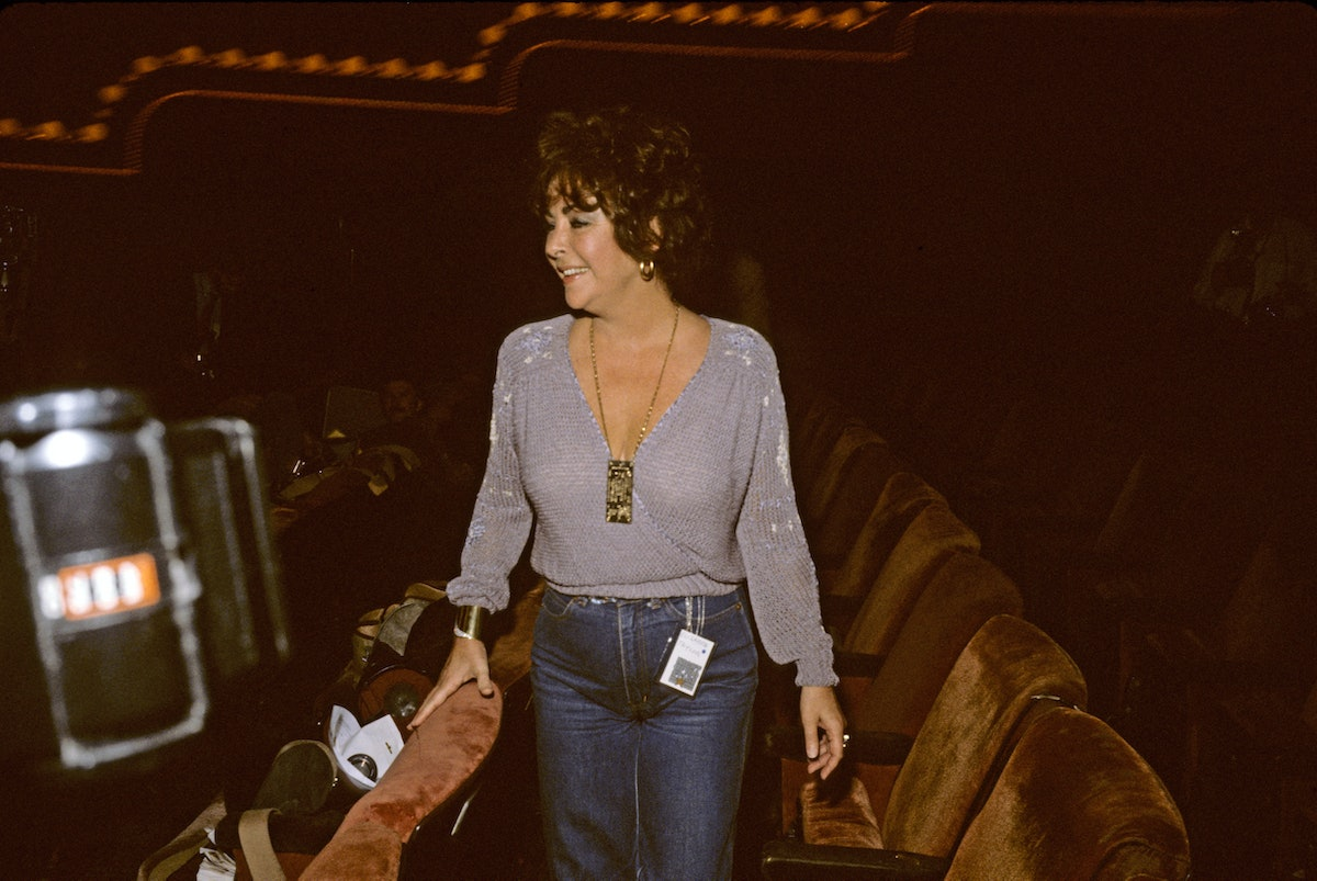Actress Liz Taylor In A Theatre